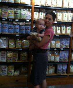 Claire and I at the Organic Foods and Cafe in Dubai.