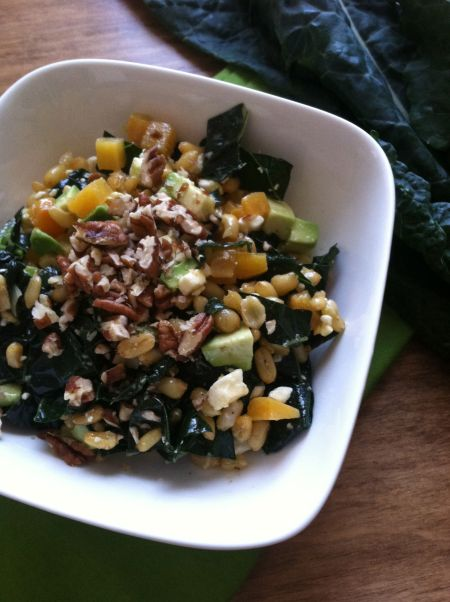 winter kale and kamut salad