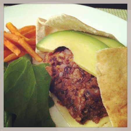 blackbean and quinoa burger